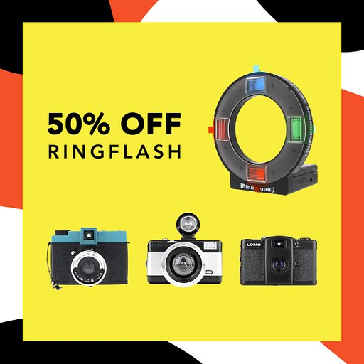 Gat Half Off on the Lomography Ringflash With Selected Camera Bundles!