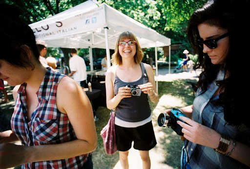 Lomography Chicago at the Logan Square Farmers Market!