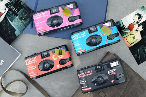 Simple Use Film Camera en pack de 4 !