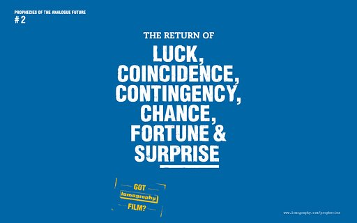 ロモグラフィー10の予言 #2 : THE RETURN OF LUCK, COINCIDENCE, CONTINGENCY, CHANCE, FORTUNE AND SURPRISE