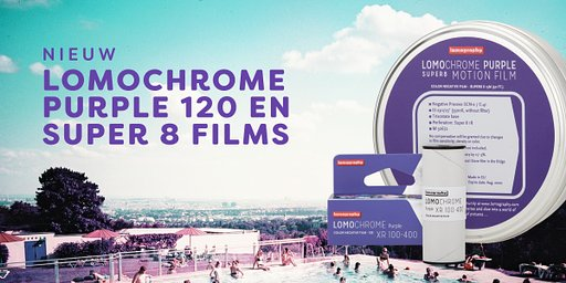 Nieuw: LomoChrome Purple 120 en Super 8 film!