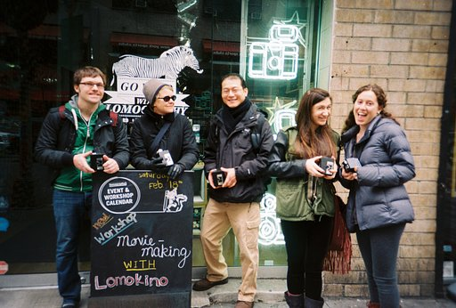 Photos from the Lomokino workshop @ NYC Gramercy Store