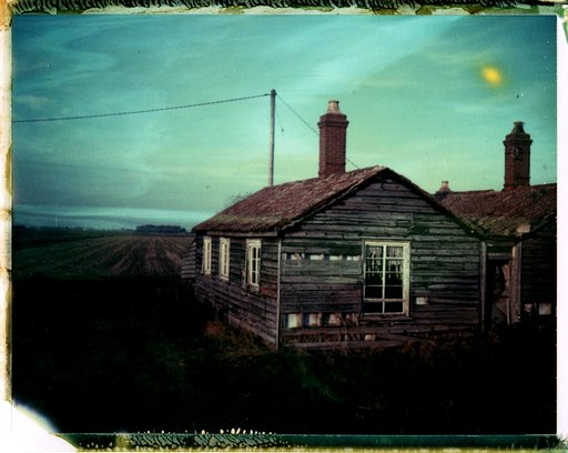 Fenland in film and expired Polaroid