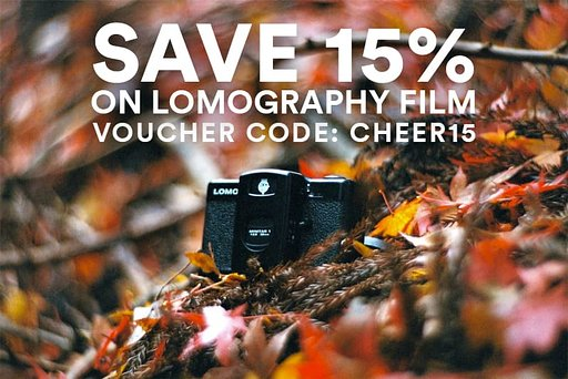 Save up to 15% on Lomography Films with voucher code CHEER15!