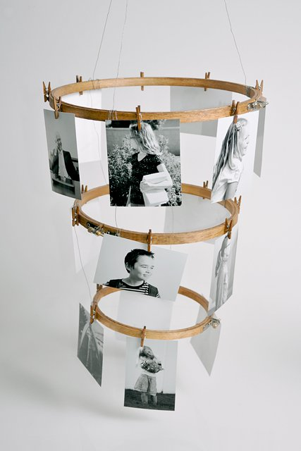 Lomo Mobile Using Embroidery Hoops