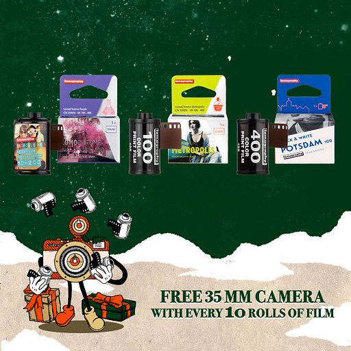 Buy 10 films and get a free camera!
