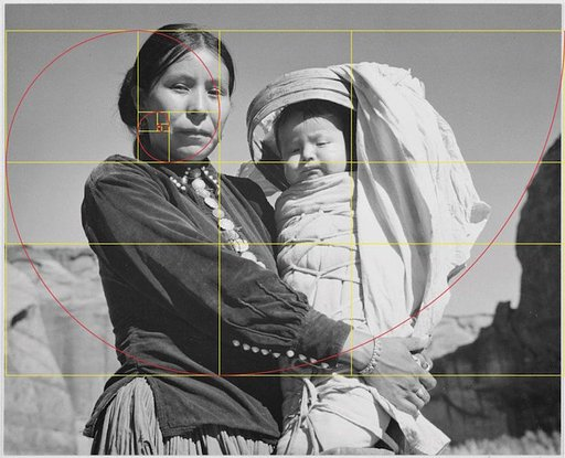 Spotting the Golden Ratio Spirals in Ansel Adams' Photographs