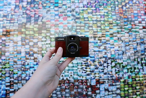 Admiring our LomoWall in Paris!