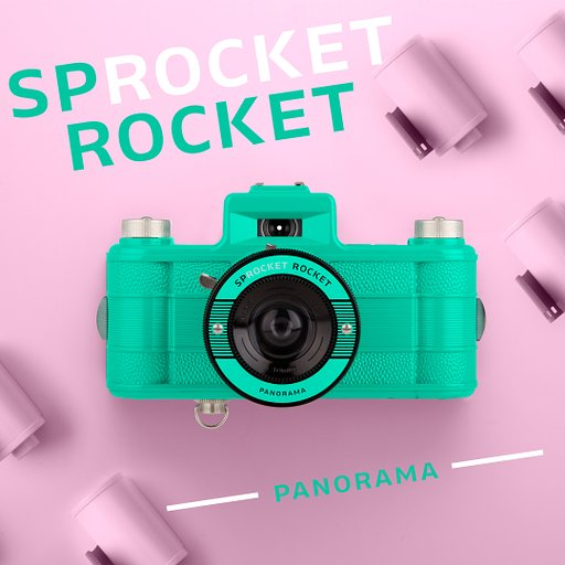 Go Panorama Crazy with The Sprocket Rocket Teal 2.0!