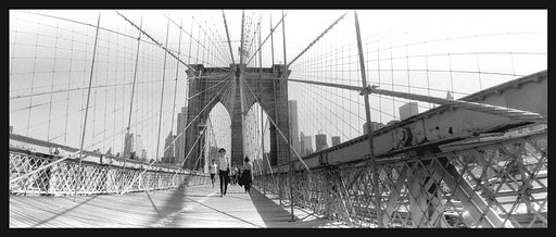 Brooklyn Bridge in Black and White