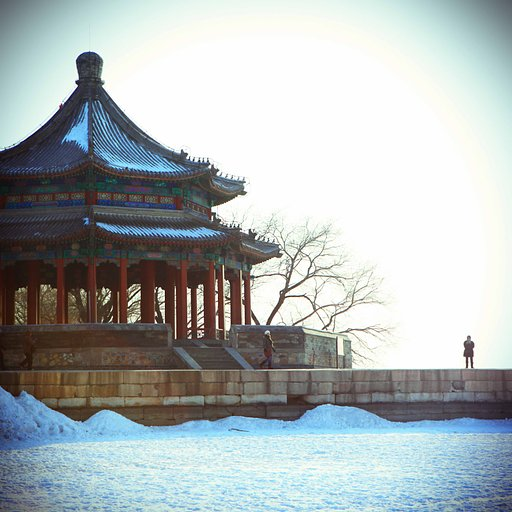 Beijing Summer Palace In Winter