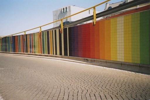 Viaduto Infante Santo: A Burst of Color in a Gray Avenue