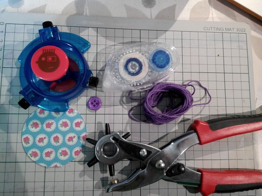 Washi tape opbergen met de Fisheye Circle Cutter!