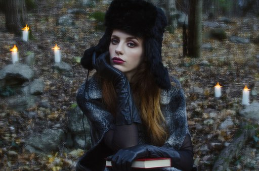 Winter Fairy Tale: Michela Riva with The Daguerreotype Achromat Art Lens