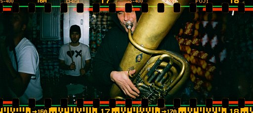 The Stumblebum Brass Band live at the Lomography Gallery Store NYC Gramercy's Grand Opening Bash!