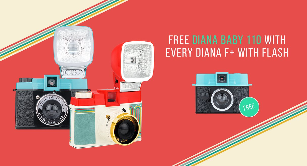 Get a Free Diana Baby 110 with Every Diana F+!