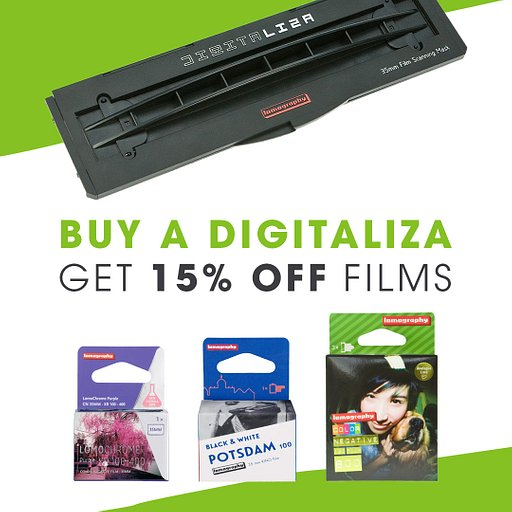 Grab our Digitaliza Scanning Mask and Enjoy 15% Off on Films