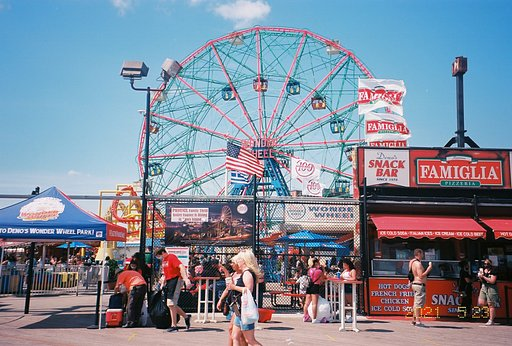 Around the World in Analogue: Colorful Summer in Coney Island