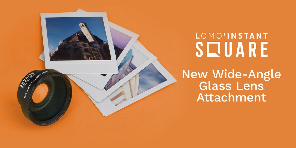 Introducing the Lomo'Instant Square Wide-Angle Glass Lens Attachment!