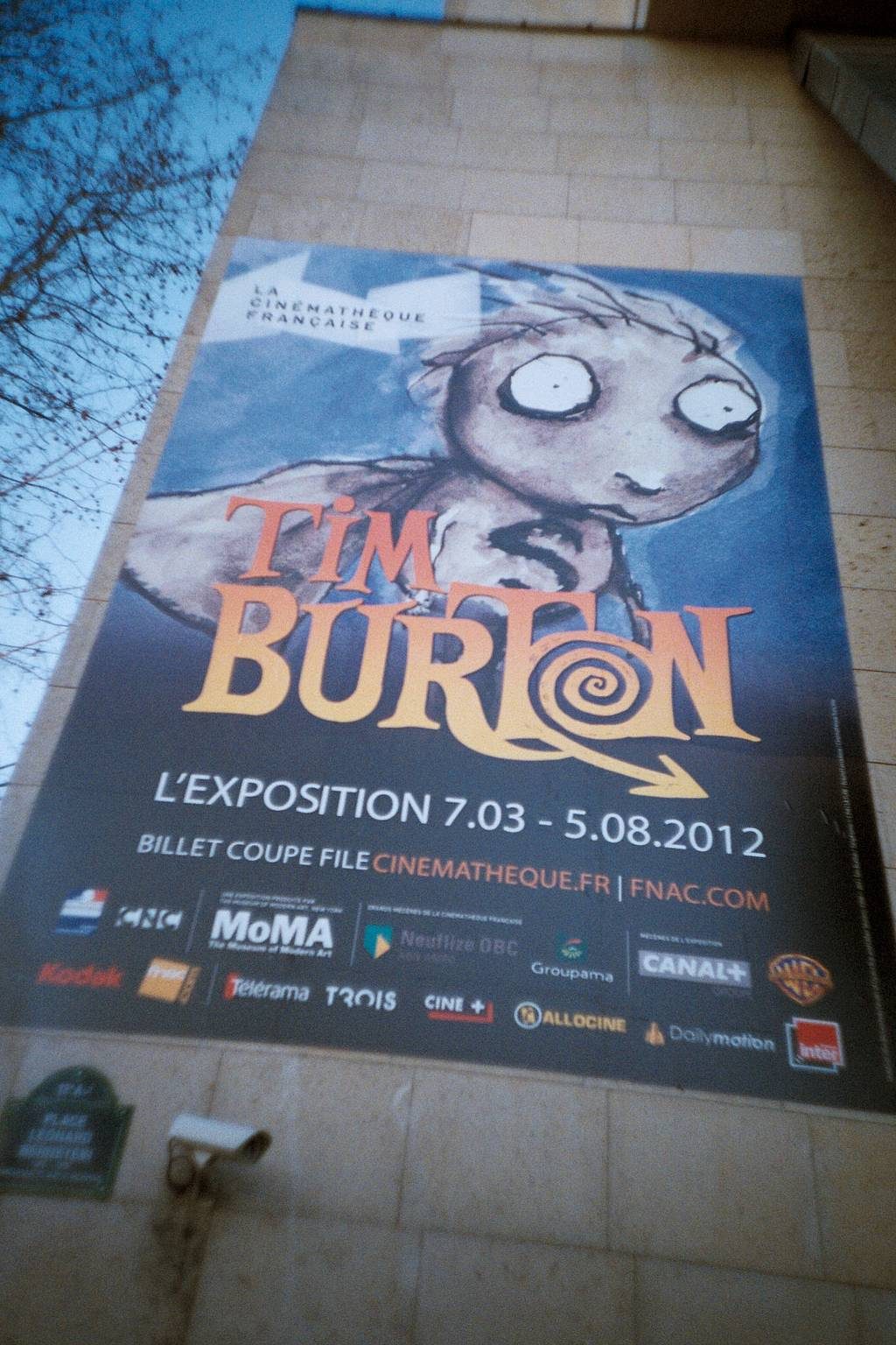 Tim Burton Exhibit at the French Cinémathèque in Paris