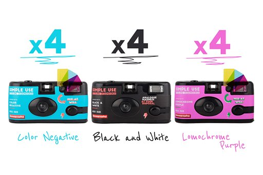 Capture a whole year of analogue life and love with the Simple Use Film Camera 12-Pack Bundle!