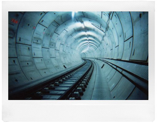 Lomo'Instant Wide Quick Shots in the Tunnels of London