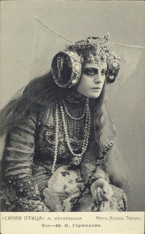 """The Blue Bird (1908)"": Portraits from the Russian Theater by Karl Fischer"