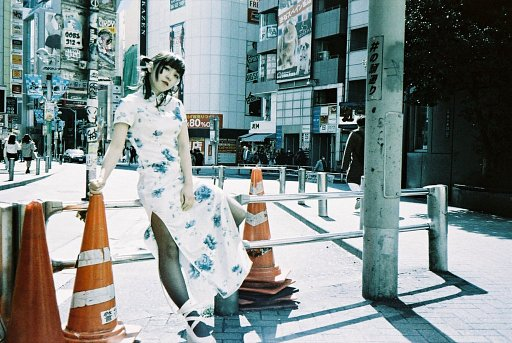 Girl in Shibuya – Ui Okuyama Photographed with LomoChrome Metropolis