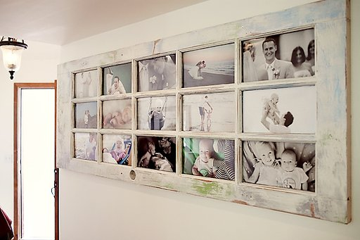 Repurpose an Old Door for a Photo Frame!