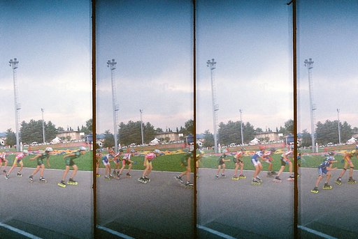 Walking in Como with a Supersampler Camera