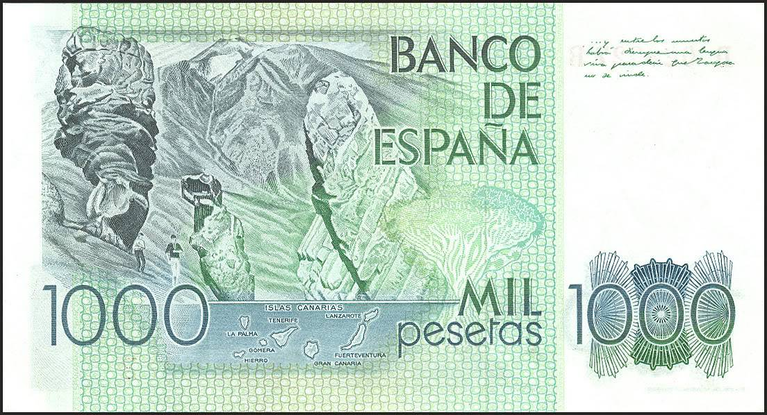 El billete de 1000 pesetas · Lomography