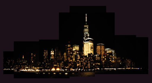 Panoramic Collage Views of Late Night Manhattan Courtesy of the Petzval Lens