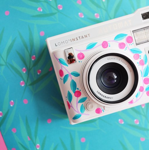 Fashion Illustrator Dinda Puspitasari's Take on the Lomo'Instant Automat