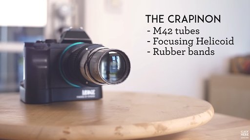"""""""Crapinon"""" from Garbage: Another DIY Lens by Mathieu Stern"""