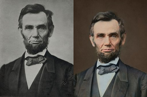 Past American Presidents in Color
