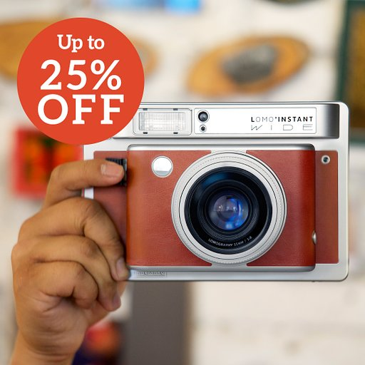 Save as Much as 25% on Our Lomo'Instant Wide Cameras!