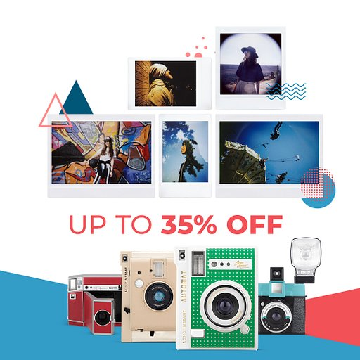 Last Chance to Save Up to 35% On Your Favorite Lomo'Instant Camera!