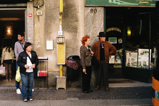 Nothing Happens on Color Film: Street Life in Como As Seen From the Bus