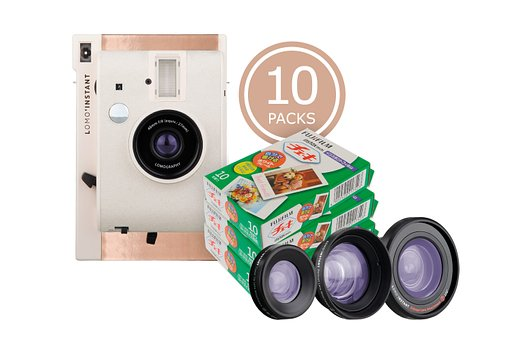 Get up to 20% off on Instax films when grabbing the newest Lomo'Instant Mumbai Bundles!