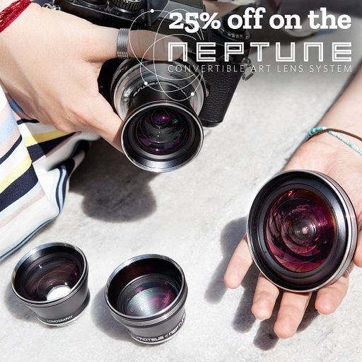 Get 25% off on the Neptune Convertible Lens System!